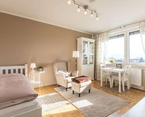 Appartements bieten Ausblick auf die Stadt
